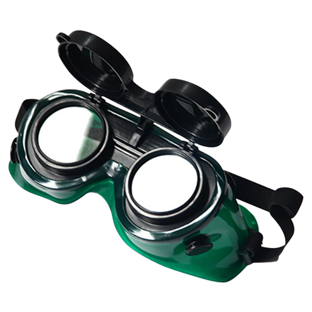 Eyes Protection Soldering Safety Lenses Brazing Durable Welding Glasses Adjustable Soft Frame Cutting Two Layers Goggles Flip-Up