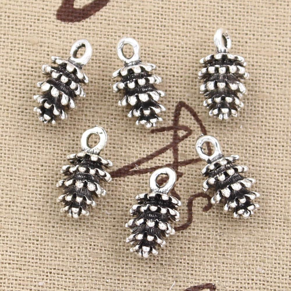 20pcs Charms pinecone 15*8*8mm Antique Silver Plated Pendants Making DIY Handmade Tibetan Silver Jewelry