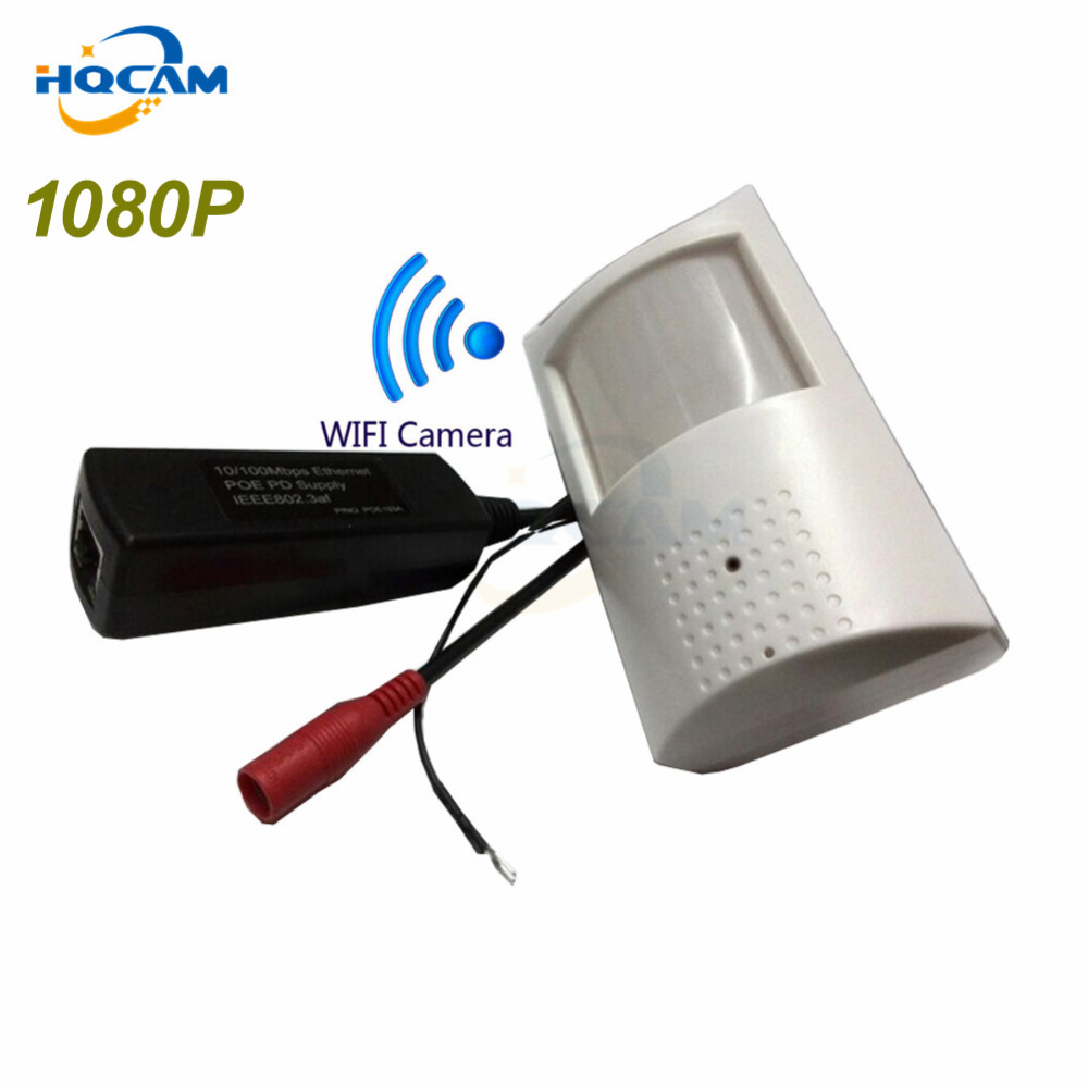 Hqcam 1080 P POE PIR Стиль детектор движения WI-FI Камера ONVIF 48 шт. 940nm ИК-Ночное видение P2P мини WI-FI POE IP Камера