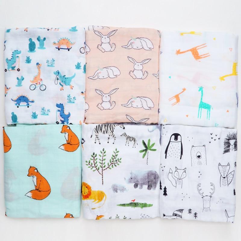 Muslinlife Baby Blanket Newborn Swaddle Wrap Baby Bath Towel Muslin Diaper Blanket Soft Mattress No Fluorescein Baby Accessories