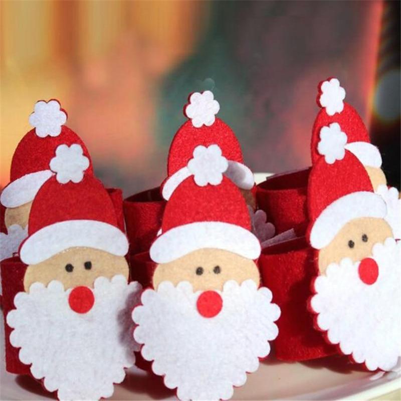 Aliexpress.com : 6 Stücke Weihnachten Weihnachtsmann Serviettenringe ...