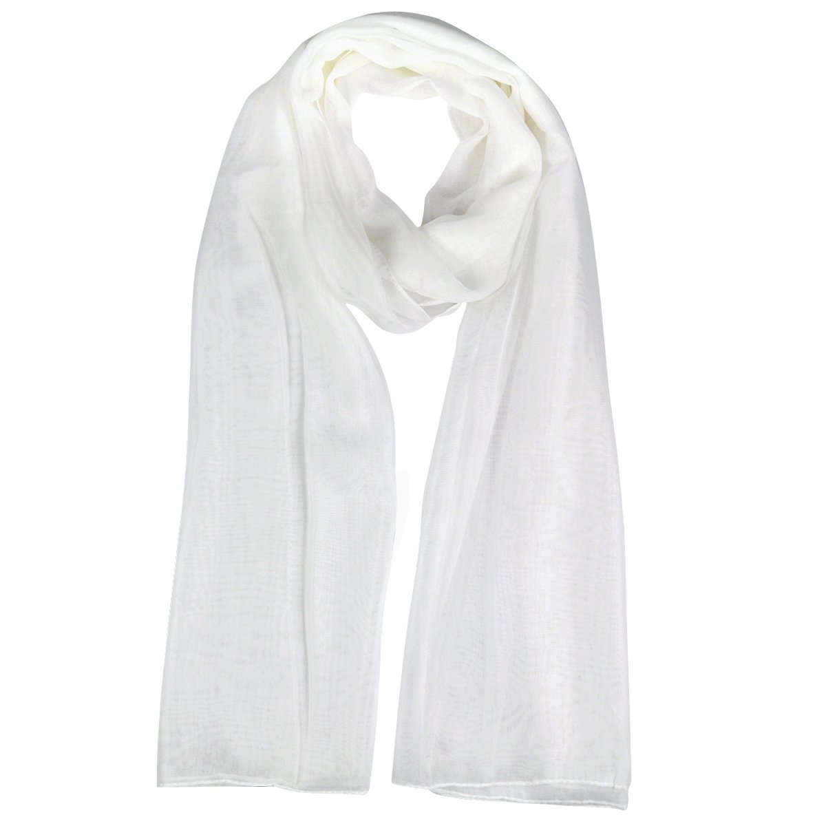 Fashion Ladies White Soft Long Large Chiffon Scarf Neck Head Wrap