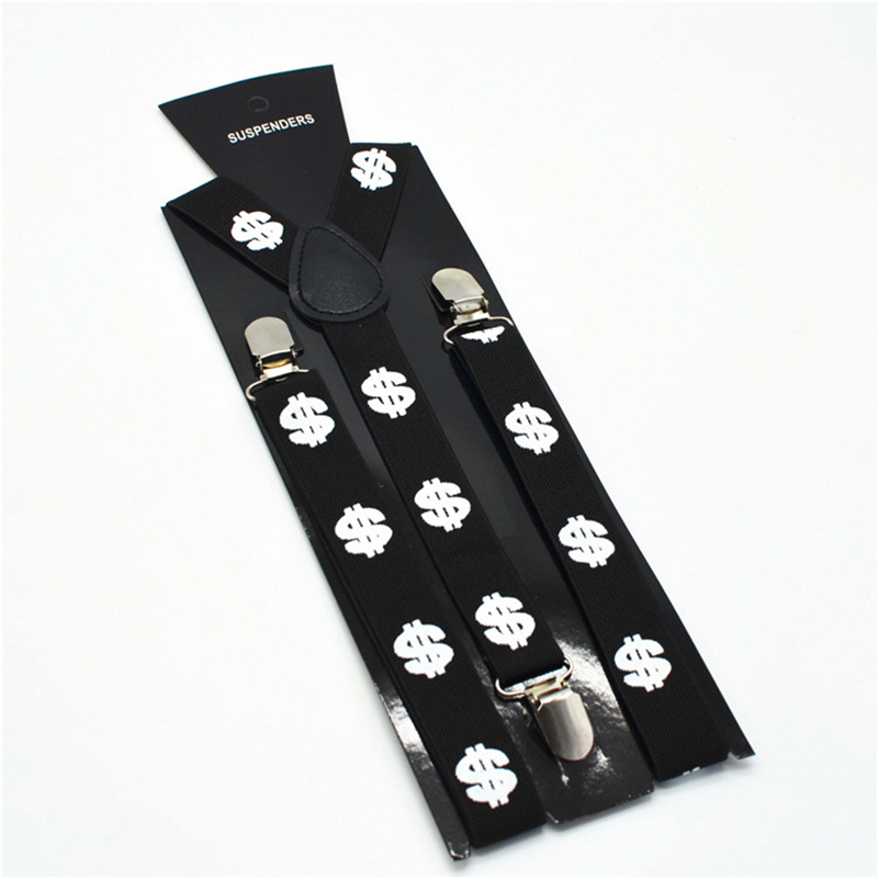 Black Suspenders Adult Unisex Size 3 Clips On Suspenders For Men Stylish Style Soft Polyester Material Adjustable Length