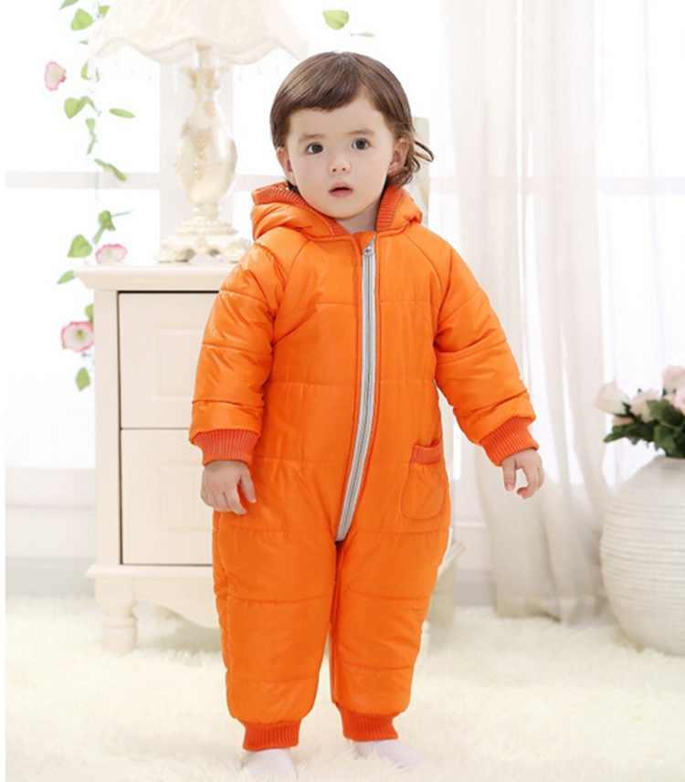 COOTELILI/зимняя одежда для новорожденных мальчиков комбинезон для маленьких девочек теплый флисовый зимний комбинезон Детский комбинезон из хлопка пальто с капюшоном от 6 до 24 месяцев