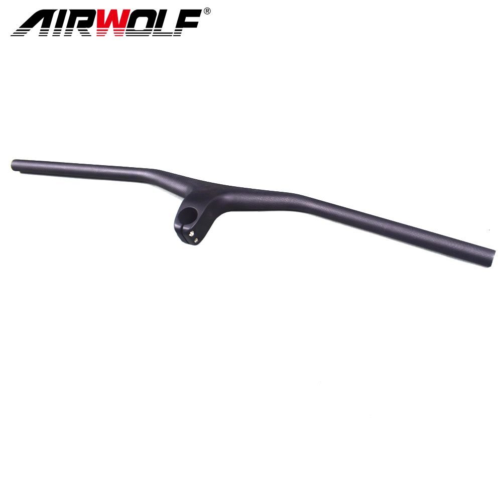 Bike parts mountain MTB bike Handlebar Integrated Handlebar With Stem Riser 17 degrees 3K T800 Full