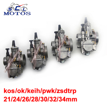 Sclmotos- 21 24 26 28 30 32 34mm para KEIHI KOSO OKO piezas carburador motocicleta Carb con poder Jet ajuste carrera Scooter ATV