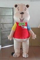 Горячая Распродажа Красный маскот Медведь Костюм талисман костюм мультфильм взрослый маскарадный костюм вечеринка Хэллоуин костюм