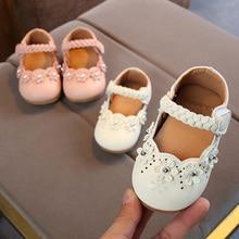 Весенняя Новинка; стильная обувь для девочек с цветочным принтом; детская обувь mary jane; обувь принцессы для маленьких девочек; детская обувь на плоской подошве; Цвет белый; MCH061
