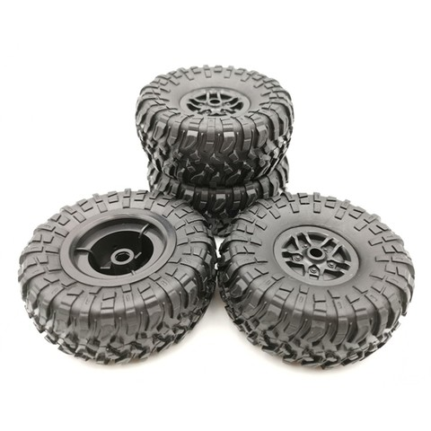 4 pcs RC Car Tires Wheels Rims Set for MN D90 D91 RC Car spare parts Crawler Car Assembled Tyre for Truck Parts & Accessories Lahore