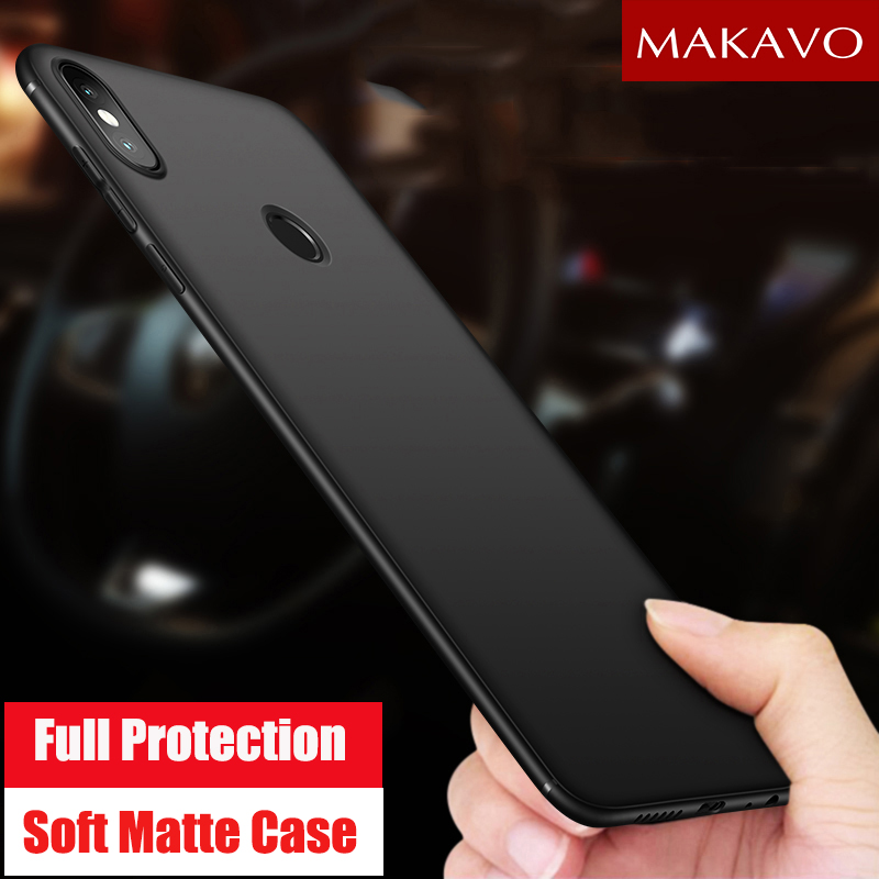 MAKAVO Cover For Xiaomi Redmi Note 5 Pro Case 360 Protection Soft Silicone Matte Phone Cases For Redmi Note 5 Note5 Pro 5.99""