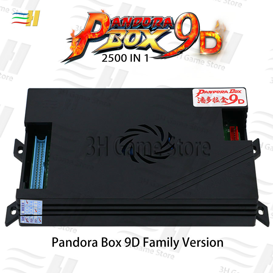 2019 Pandora Box 9d 2500 In 1 Family Version Board Support 3d Game For Console Arcade Machines 3P 4P Game Usb Connect Gamepad