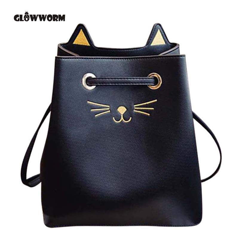 2017 Sailor Moon Bucket bag Samantha Luna Style Cat Ladies Hand Bags Kitty Cat Bag Women Messenger Crossbody Tote Bag CX431 moon hand muff style wood 000