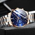 Relojes 2019 часы мужские модные спортивные кварцевые часы мужские часы с хронографом высококачественные Бизнес водонепроницаемые часы Relogio ...