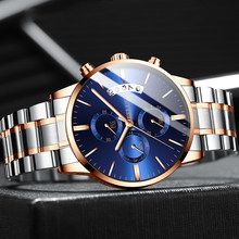 Relojes 2019 Watch Men Fashion Sport Quartz Clock Mens Watches Chronograph high-end Business Waterproof Watch Relogio Masculino(China)