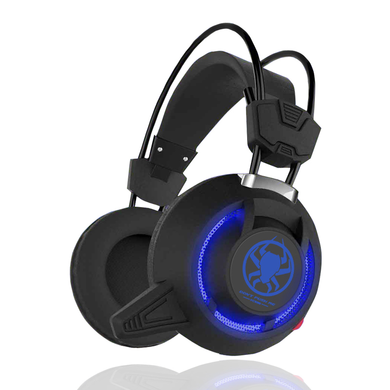 PLEXTONE PC835 Gaming Headset Gamer Genuine Stereo Bass Headphones Over Ear Headband Earphone With Microphones LED Light For PC ovann x17 gaming stereo bass headset headphone earphone over ear 3 5mm
