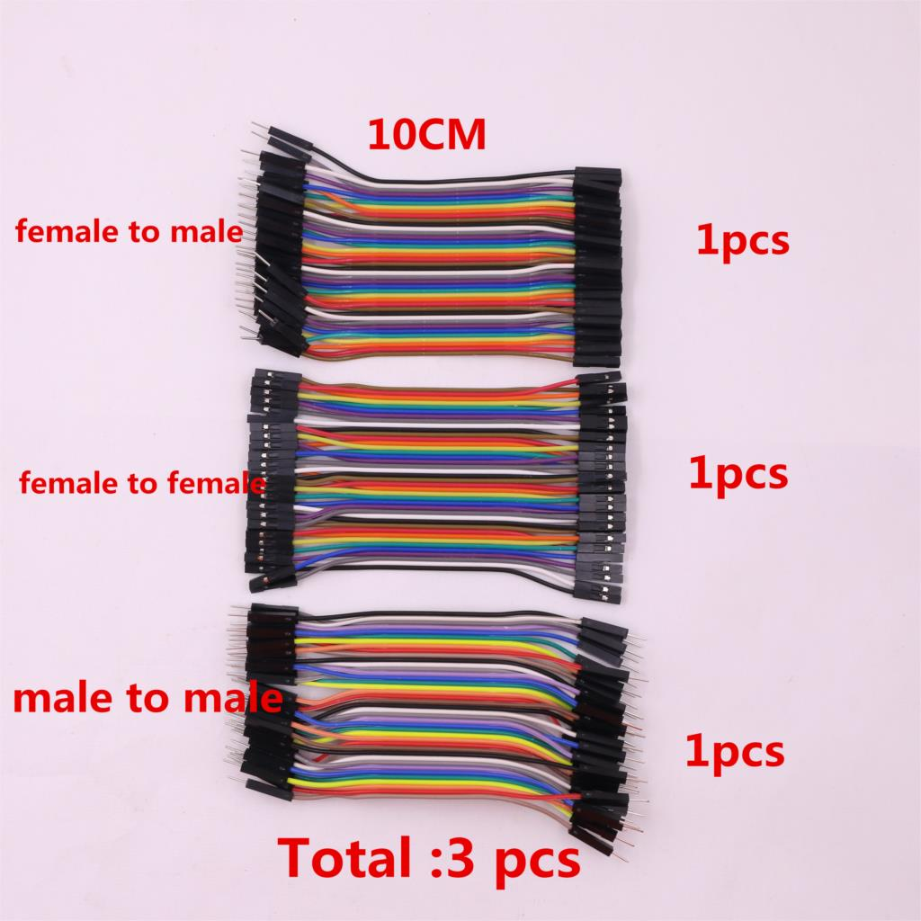 Dupont line 120 pcs/lot 10cm male to male + male to female and female to female jumper wire Dupont cable for arduino uno kit