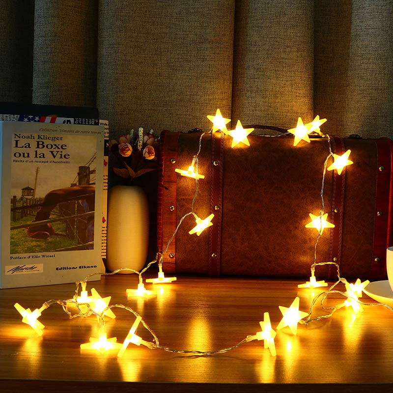 1 Pc Smuxi Night Light 3 Meter 30 LED Frosting Star String Lights LED Fairy Lights Battery Powered Holiday Lamp for Indoor Decor