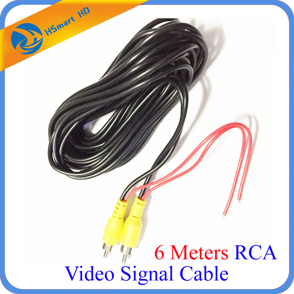 6 Meters RCA Video Signal Cable Waterproof 6M RCA Car Video Cable with Detection Wire For Car Rear View Camera mini DVR Kits retro loft style rope bamboo droplight creative iron vintage pendant light fixtures dining room led hanging lamp home lighting