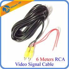 6 מטרים RCA וידאו אות כבל עמיד למים 6 M RCA רכב וידאו כבל עם זיהוי חוט עבור מכונית אחורית מצלמה מיני DVR ערכות
