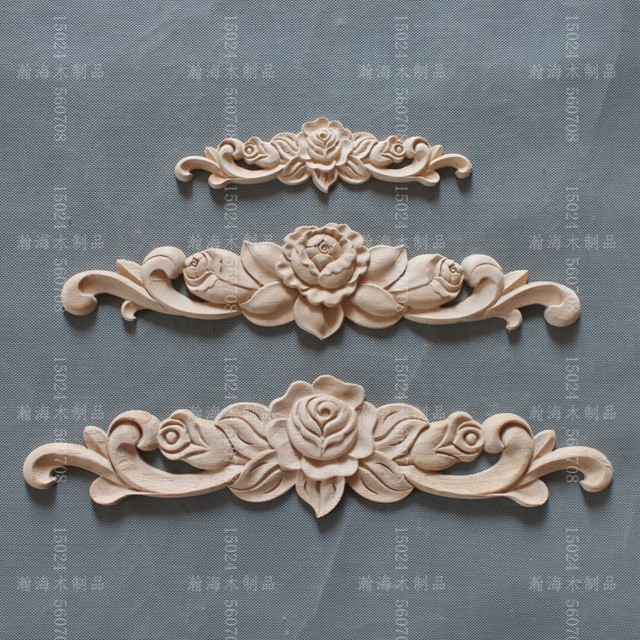 Dongyang Wood Carving Wood Applique Furniture Home Diy Fashion Small