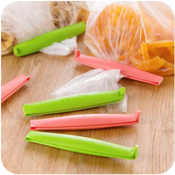 Simple Style Food Sealing Clip Storage Bag Clips Snack/Food Fresh Preservation Bags Clips Home Storage 6 Pieces/Lot
