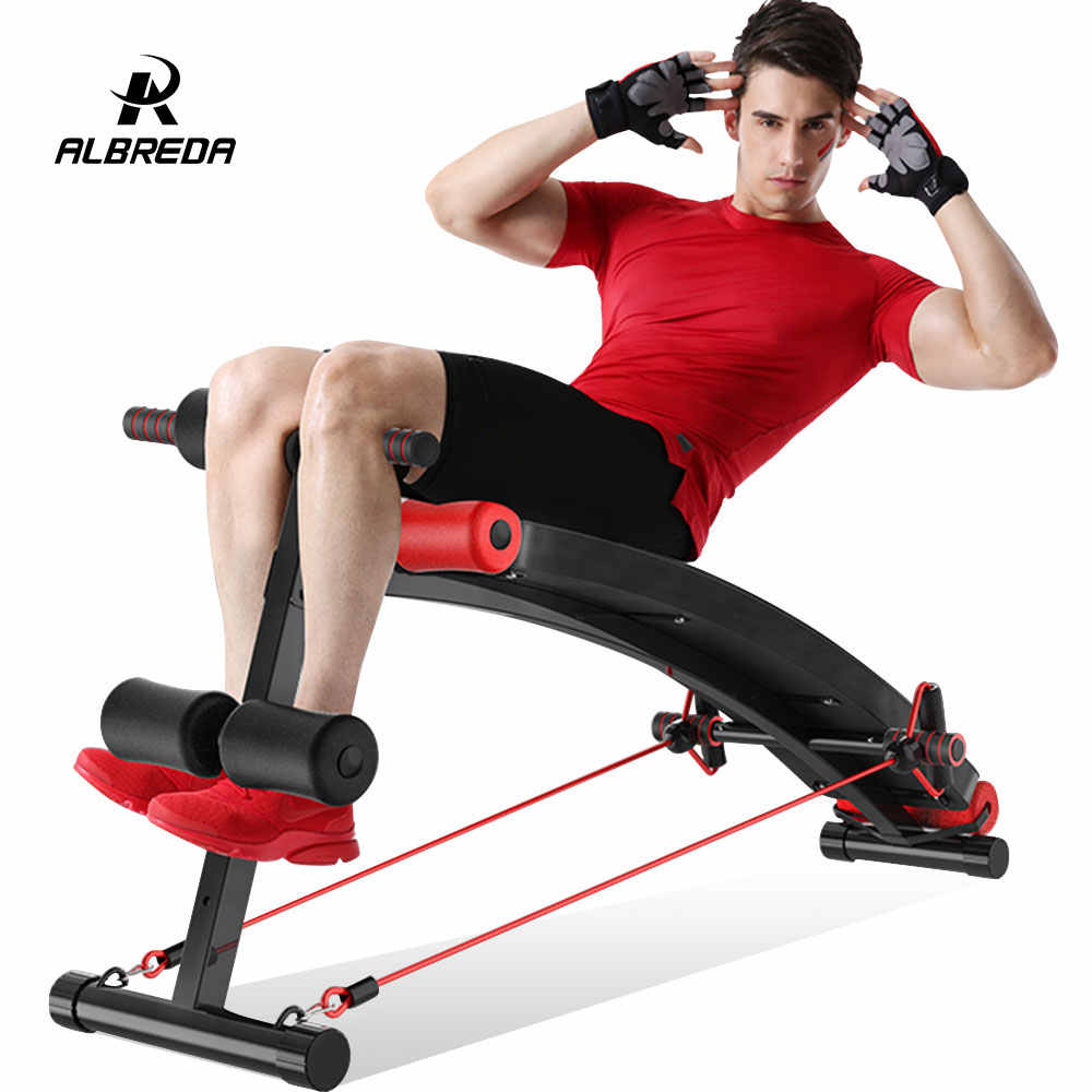 09eedf0373ffae ALBREDA New Sit Up Benches inversion table fitness training more function  muscles plate household Bodybuilding equipment