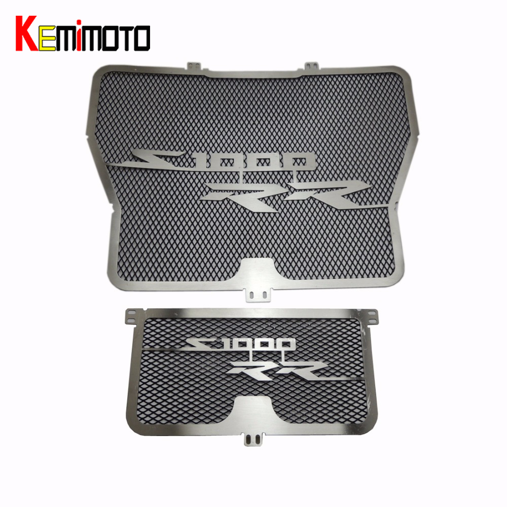 KEMiMOTO Radiator Grill with Oil Cooler Guard Cover Protector for BMW S1000RR HP4 2009 2010 2011 2012 2013 2014 radiator protective cover grill guard grille protector for kawasaki z750 z1000 2007 2008 2009 2010 2011 2012 2013 2014 2015 2016