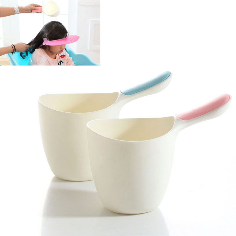 Baby Child Wash Hair Shampoo Rinse Cup Thick Bath Water Ladle Scoop for Kids M09