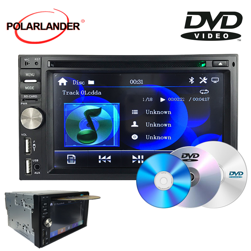 FM 7 couleurs rétro-éclairage horloge vidéo avertissement fonction 6.5 pouces Bluetooth MP3 double broche grand écran HD commandes au volant