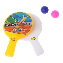 Portable Mini Table Tennis Racket With 2 Ping Pong Bats Balls Kids Children Toy