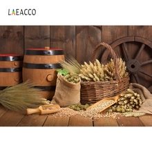 Laeacco Rural Granary Food Farm Barrel Toddler Baby Child Photography Backgrounds Custom Photographic Backdrops For Photo Studio