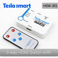 3 ports HDMI Switches 3 in 1 out HDMI Switch 3x1 Splitter fulled support HDTV 3D 4K White