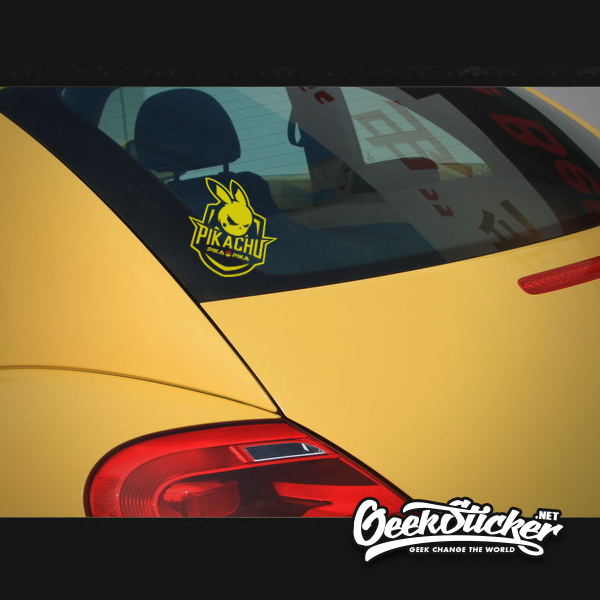 Image 4 - Waterproof Reflective Cool Pikachu Car Styling car Sticker Exterior Decals for Mazda rx7 suzuki vw Beetle infiniti q50 bmw e46-in Car Stickers from Automobiles & Motorcycles