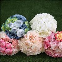 Beyaz Şakayık Gül Düğün Buketleri Güzel Düğün Buketler Gelin Nedime Çiçek Yapay Çiçek Buketleri