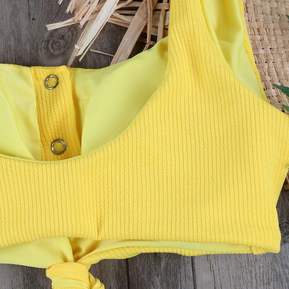 Melphieer Girls Yellow Red Bow knot Bikini 19 Beach Swimwear Summer Swimsuit Female Bikinis Women Bathing Suit Maillot De Bain 10
