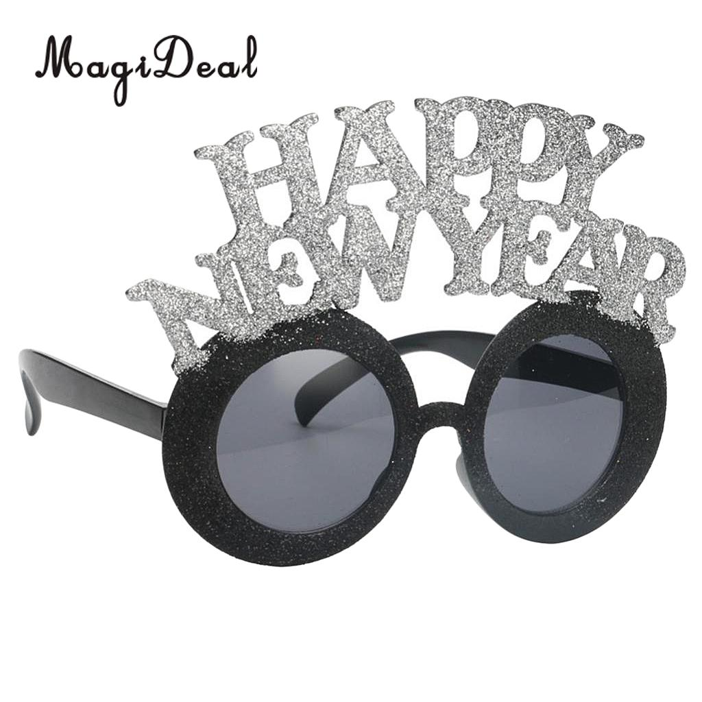 Funny Glitter New Year Party Glasses Photobooth Celebrations ...