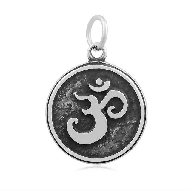 Diy Fashion Jewelry Stainless Steel Vintage Yoga Om Symbol Charm