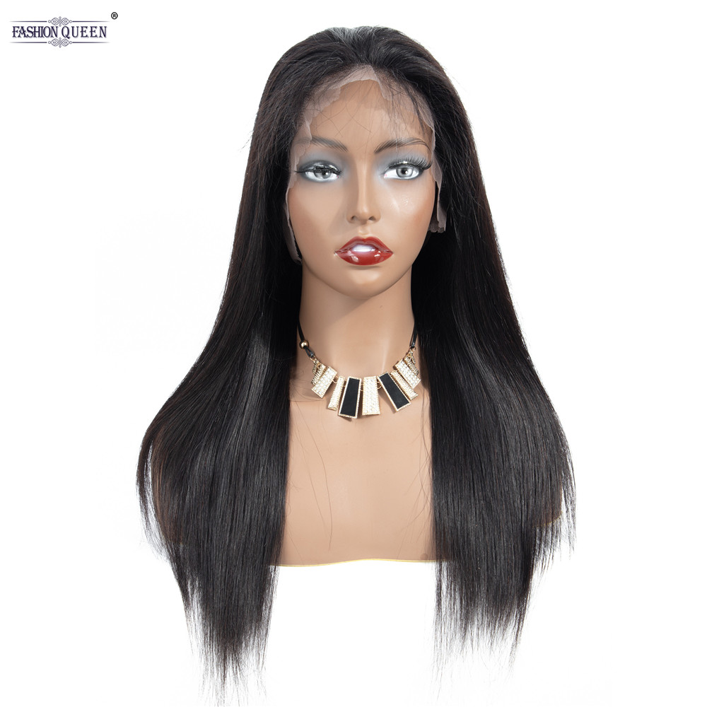 360 Lace Front Human Hair Wig Straight Baby Hair Lace Frontal wigs Brazilian Pre Plucked Free Shipping(China)