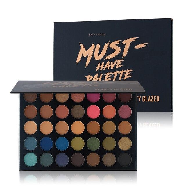 Красоты глазированные 35 Цвет Макияж Eye shadow Palette Make Up Водонепроницаемый длительный легко носить палитра теней Косметика B17/25