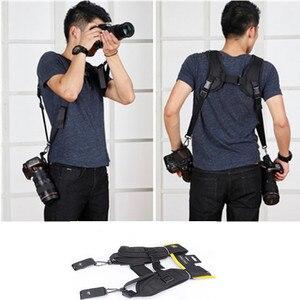 Image 4 - באיכות גבוהה חדש שחור מקצועי מהיר מצלמה כפולה כתף קלע רצועת עבור SLR DSLR עבור Canon Nikon Sony מצלמה