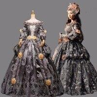 Ball Gown Gothic Medieval Victorian Dress Women lolita costumes adults dress Renaissance gown princess costume Victorian Ball
