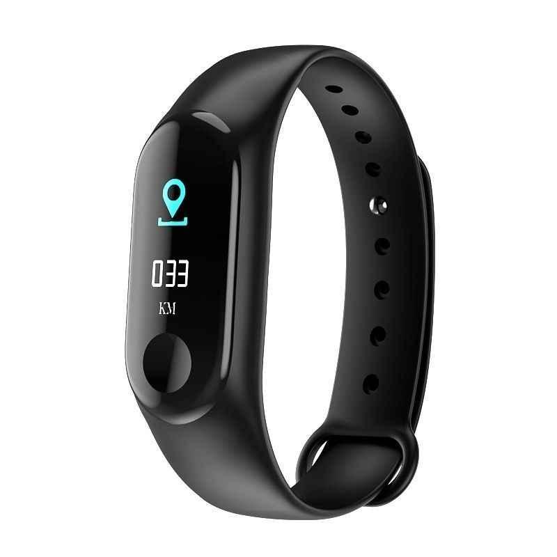 M3 inteligente pulseiras tela colorida pulseira de pressão arterial fitness rastreador relógio monitor de freqüência cardíaca pulseira smartband destacável