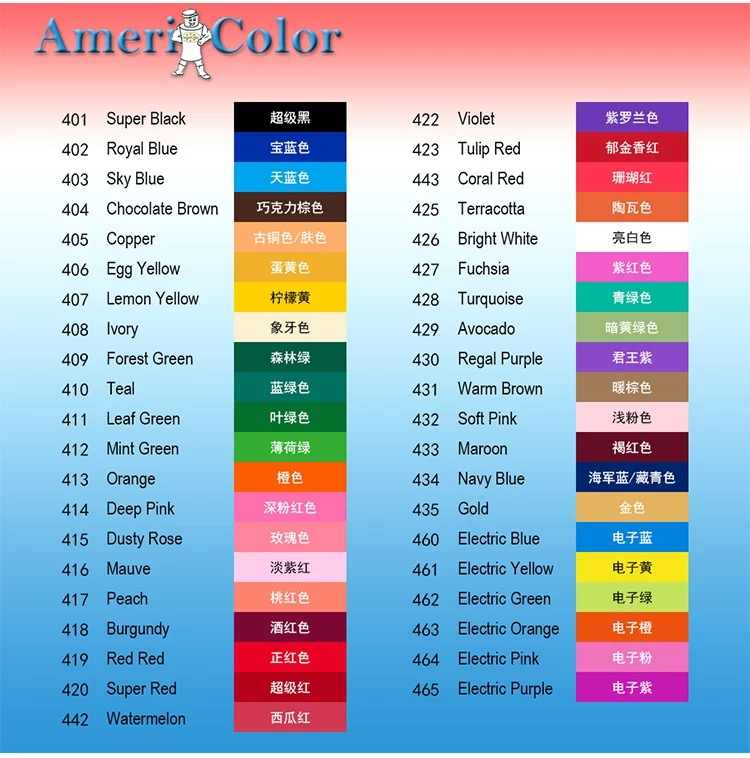 383g Large Size 41 Colors AmeriColor Food Coloring Soft Gel ...