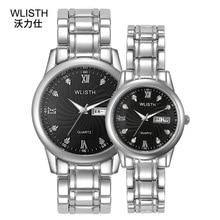 2019 Top Brand Steel Belt Calendar Waterproof Fashion Quartz Watch Couple Table  Gift Lover Watches Unique