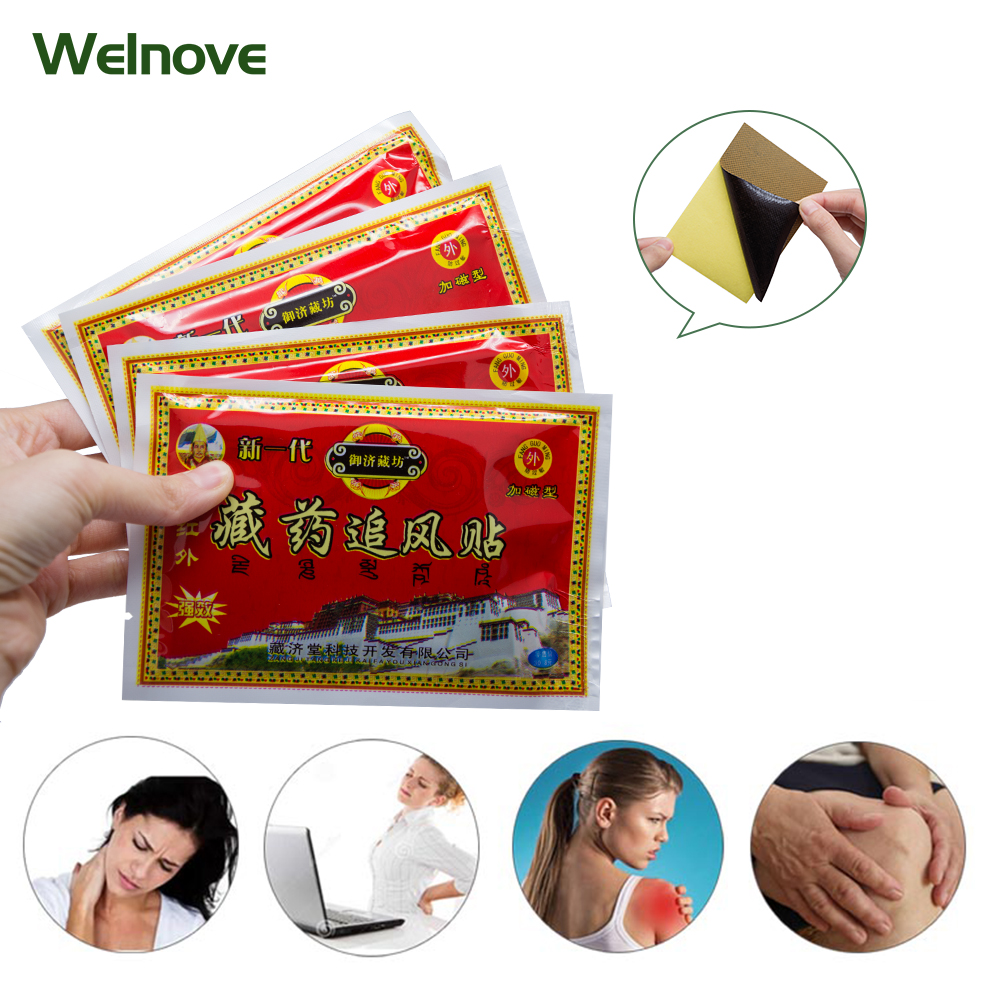 64pcs Far-infrared Tibetan Medicine Herbal Stickers Pain Relief Chinese Herbal Plasters Muscle Arthritis Patch D1083 wormwood pepper ginger paste to banish cold pain shoulder neck leg health care stickers warm stickers chinese herbal stickers