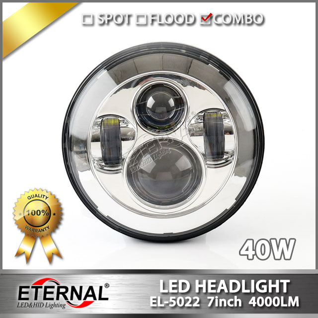 free shipping-pair round 7 80W Speakers Land over led sealed beam headlight for wrangler rubicon CT TJ JK FJ Miata 4x4 off road hl 037 80w 7 projector daymaker led headlight for jeep wrangler rubicon ct tj jk fj miata 4x4 off road hi low beam led headlamp