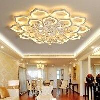 Twórczy lotos akrylowe kryształowe led sufitowe światła salon sypialnia badania jadalnia sufit pokoju lampa oświetlenie komercyjne oprawa w Oświetlenie sufitowe od Lampy i oświetlenie na
