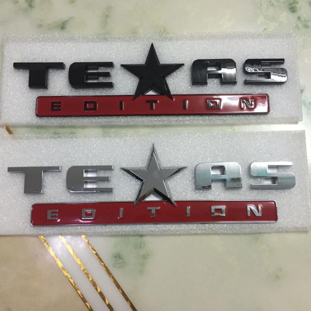 2 colors texas edition fender car badge sticker abs for jeep chevrolet silverado gmc sierra auto