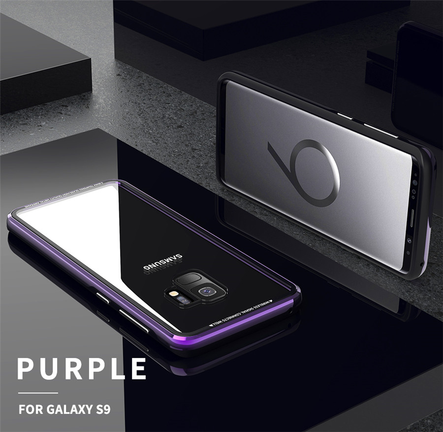 Luxury Aluminum Phone Cases For Samsung galaxy s9 Original R-just Hardness Tempered Glass Cover Case S9 Plus S9+ Accessories (16)