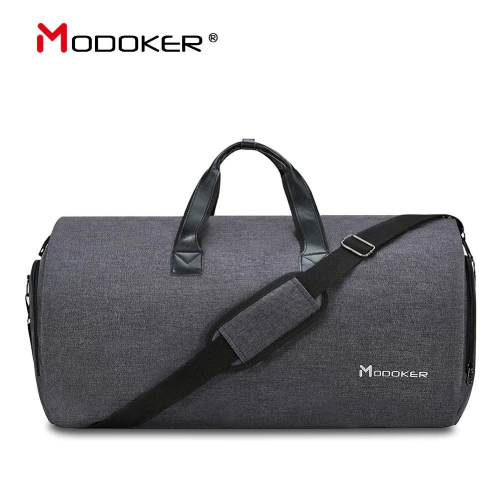 Modoker New Travel Garment Bag Shoulder Strap Duffel Bag Business Fashion Carry on Hanging Clothing Multiple
